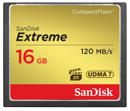 SanDisk Extreme 16GB Compact Flash Memory Card UDMA 7 Speed