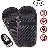 LEOKE Faraday Bag for Car Keys, Car Key Signal Blocker, Keyless Car Key Signal Blocker Healthy Rfid Key Pouch Privacy Protection Security RFID/WIFI/GSM/LTE/NFC/RF Blocker