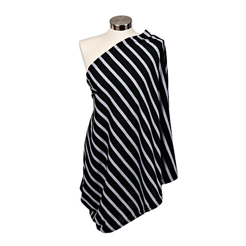 Platinum Stripe (Itzy Ritzy Infinity Breastfeeding Scarf-Cotton/Poly Blend-Platinum Stripe)