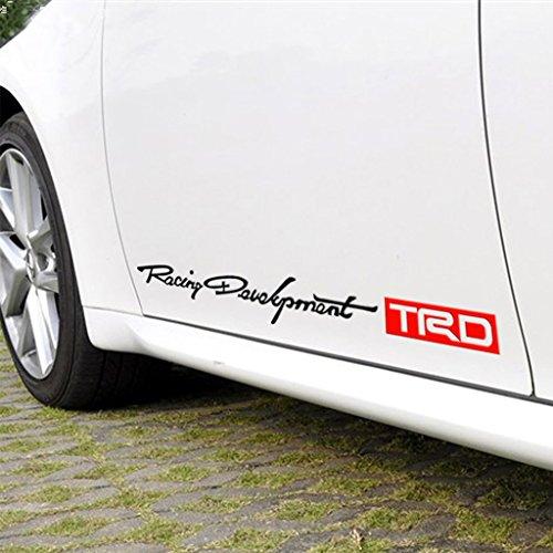 Kaizen TRD Personality Side Skirt Decals Sticker Creative Decals Vinyl Sticker For Toyota Carola Carmy Prado Highlander RAV and Any SUV,Truck or Sedan Car Color Red-Black