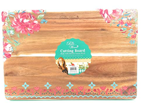 The Pioneer Woman Acacia Wood Cutting Carving Board, Garden Party, 12x18