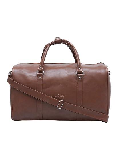 06fcea5aa402 MBOSS Tan 37 Liter Faux Leather Duffel Tote Gym Travel Bag TB 014 TAN   Amazon.in  Bags