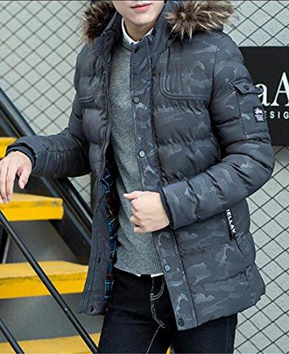 Cerniera Inverno Giacca Outwear Spesso Gocgt Uomini All'aperto Di Gery Incappucciato 1Tn7R5qUxT