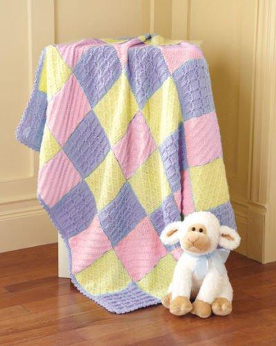 Diamonds & Squares Blanket - Pinks Knit Kit