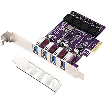 Amazon.com: TOTOVIN PCI-E to USB 3.0 C + A 5-Port PCI ...
