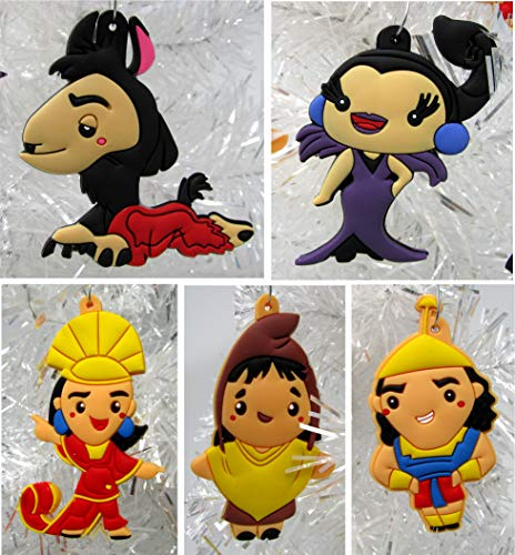 Ornament Emperor's New Groove Holiday Christmas Set - Unique Shatterproof Plastic Design