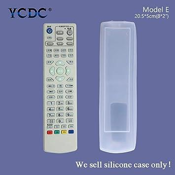 Funda protectora de silicona para mando a distancia KONKA K906/KK345; Samsung BN59-01026A; Hisense CN-31658; LG AKB72915255; Le TV Set-top Box Remote Control, modelo E, 20,5 x 5 cm, 1 unidad: Amazon.es: Electrónica