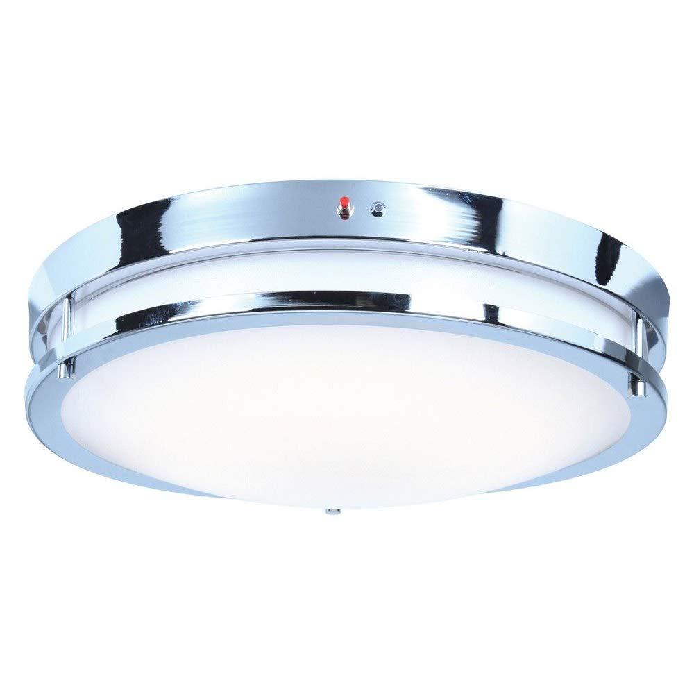 Access Lighting Solero EM 18'' LED Emergency Backup Flush Mount - Chrome Finish with White Acrylic Lens