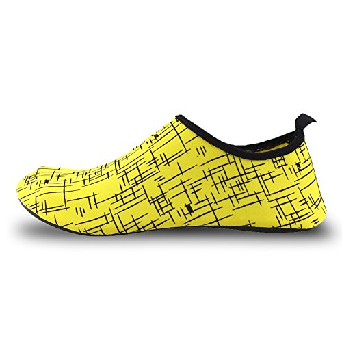 men Camp Kids Pool Sport Quick Women Lightweight Water 02yellow Beach Y dry Senfi Shoes zTq8n