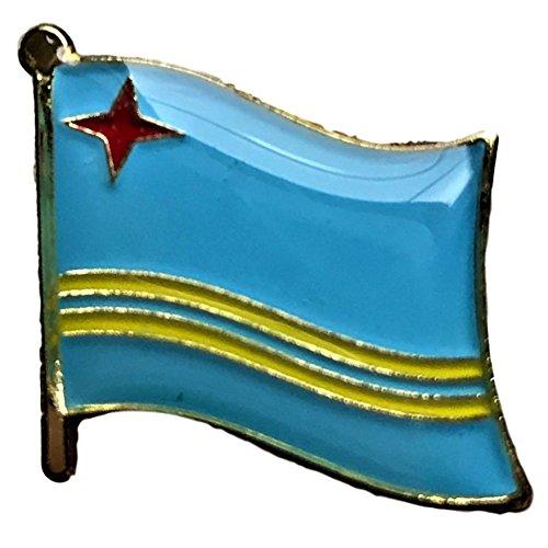 (Backwoods Barnaby Aruba Flag Lapel Pin)
