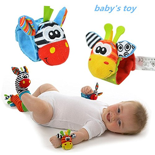 Maphissus Child Kids Wrist Rattles Cute Animal Infant Baby Kids Hand Wrist Bell Rattles Soft Toy for Fun Reindeer (Pack of 2) (Dog Mobile compare prices)