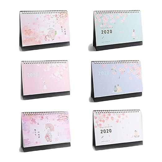 HavanaYZ 2020 - Calendario de mesa con doble espiral para ...