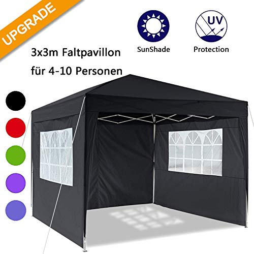 Oppikle 3x3m/3x6m Gazebo, Waterproof Garden Gazebo with 4 Side Panels,Adjustable Marquee Tent with Carry Bag,Powder…