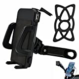 4s iphone cases one direction - PROCYMD 2 in 1 Waterproof 12V to 85V Motorcycle Electric Bike Scooter ATV Cellphone Holder with 5V 1.5Amp USB Charger/Power Switch/ 3.3FT Power Cable/Safety Bands (Black)
