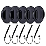 62mm Center Snap-on Lens Cap JJC Camera Front Lens Cover for Canon Nikon Fuji Fujifilm Strong Flexible Springs Replaces Original Cap Perfectly Fit Unique Design Camera Lens with Lens Cap Keeper-5 Pack