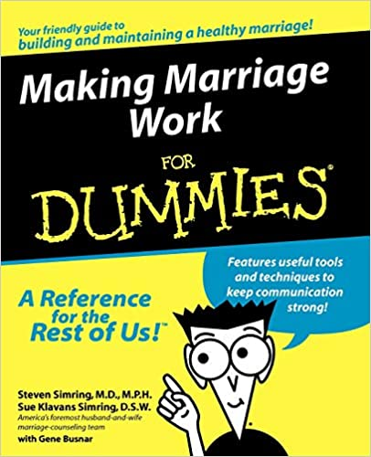 Image of: Accurately Sum Making Marriage Work For Dummies 1st Edition Envelopmecom Making Marriage Work For Dummies Steven Simring Sue Klavans