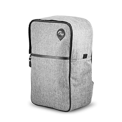 Vatra Skunk Urban Backpack Gray - Smell Proof - Water Proof - NOW WITH COMBO LOCK 12' Carbon Filter