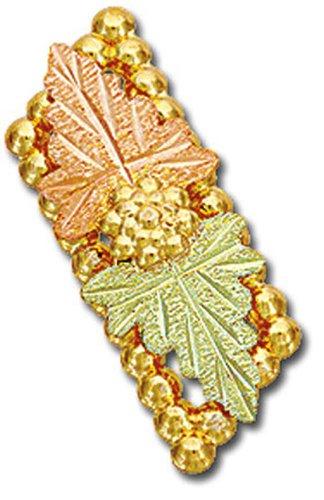 Landstroms Black Hills Gold Tie Tack or Lapel Pin with Large Leaves - G ()
