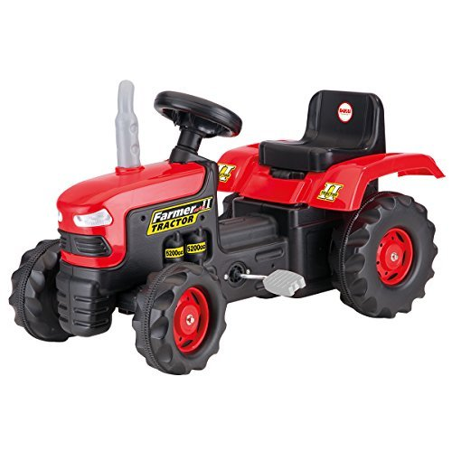 Dolu Children's Kid's Pedal Operated Ride On Red Tractor Toy Outdoor Garden Ride Ons Age 3+ Years by Charles Bentley