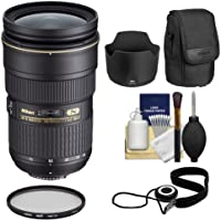 Nikon 24-70mm f/2.8G AF-S ED Zoom-Nikkor Lens with Hood & Pouch Case + Filter Kit for D3200, D3300, D5300, D5500, D7100, D7200, D750, D810 Cameras