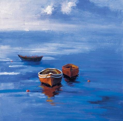 Alice In Wonderland Costumes Rental ('Boats On The Blue Ocean' Oil Painting, 20x20 Inch / 51x52 Cm ,printed On Perfect Effect Canvas ,this Replica Art DecorativeCanvas Prints Is Perfectly Suitalbe For Kitchen Artwork And Home Decor And Gifts)