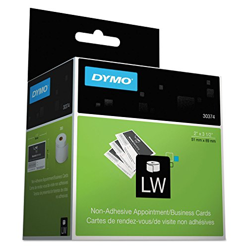 - DYMO 30374 LabelWriter Business/Appointment Cards, 2 x 3 1/2, White, 300 Labels/Roll