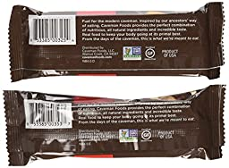 Caveman Nutrition Bars 10 Dark Chocolate Cashew Almond Bars and 10 Dark Chocolate Almond Coconut Bars. Gluten Free, No Peanuts