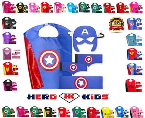 Blue-Red-White Captain America (Captain America Toddler Girl Costume)