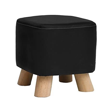 Ideas About Cover Leather Ottoman With Fabric