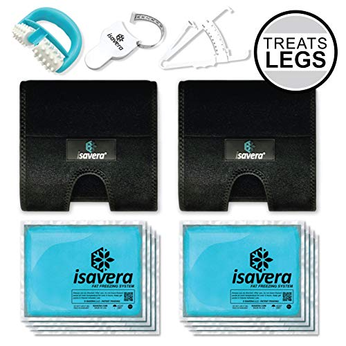 Isavera Thigh Fat Freezing System - Thigh Trimmers - Legs Toner & Shaper for Women & Men - Thigh Gap Wraps - Lose Thigh Fat Weight Loss Trainer