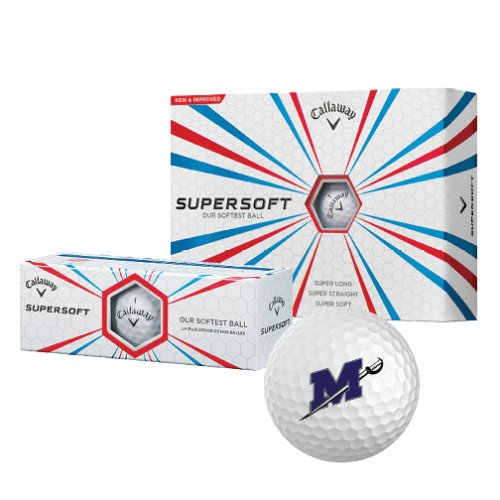 Millsaps Callaway Supersoft Golf Balls 12/pkg 'Official Logo' by CollegeFanGear