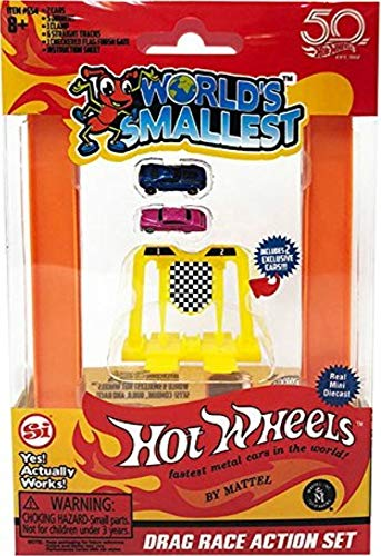 Worlds Smallest Hot Wheels Mini World Complete Collection. Includes Drag Race, Hot Curves & Stunt Action Sets & Classic Rally Case. Collection Includes 5 Exclusive Hot Wheels Cars! by Worlds Smallest (Image #1)