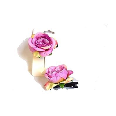 Voice Tattoo Lot 2 Merveilleuse Rose Pince Cheveux Fleur Couleur