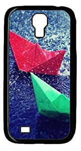 Colourful Origami Custom Samsung Galaxy I9500/Samsung Galaxy S4 Case Cover Polycarbonate Black