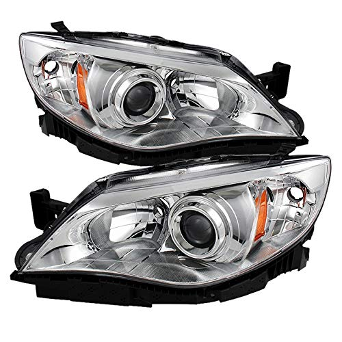 Xtune for 2008-2011 Impreza Chrome Housing Projector Headlights Assembly Direct Fit LH+RH Pair Left+Right/2009 2010