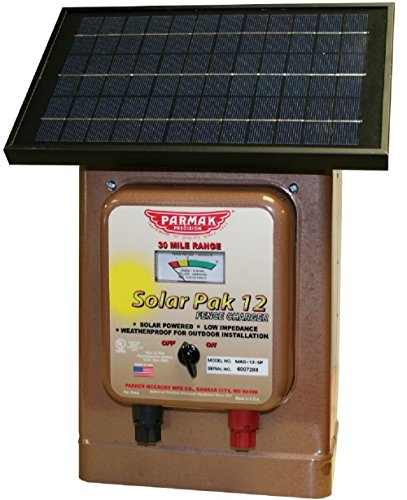 - Parmak Magnum Solar-Pak 12 Low Impedance 12 Volt Battery Operated 30 Mile Range Electric Fence Charger MAG12-SP