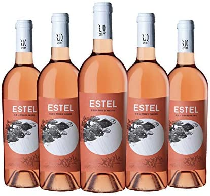 ESTEL 2019 - Vino rosado ecológico. Marca: 3.10 Celler. Vi de la Terra de Mallorca. Variedades: Callet,Merlot y Syrah. Pack de 6 botellas.