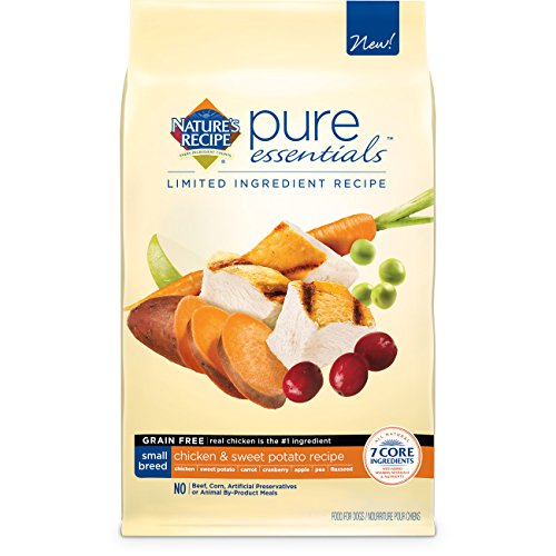 Nature'S Recipe Pure Essentials Grain Free Small Breed Chicken And Sweet Potato Dry Dog Food, 11-Pound