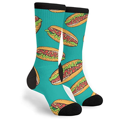 Hot Dog Sausage Rolls Unisex Printing Seafarer Socks Deluxe Personality Short Sock -