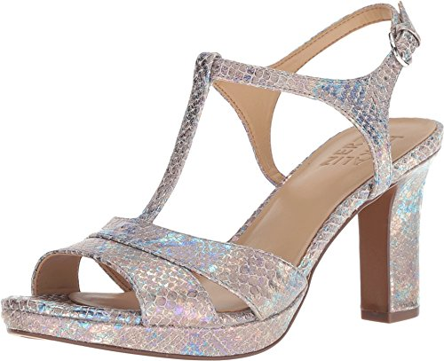 Naturalizer Women's Finn Silver Irridescent Snake Leather 8 M US ()