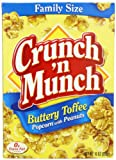 Crunch N Munch Buttery Toffee Popcorn with Peanuts, 10 Ounce (Pack of 12)