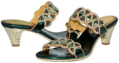 2ce9e5915 LizForm Women Sandal Crystal Stud Wedding Prom Party Sandal Rhinestone Low  Heels