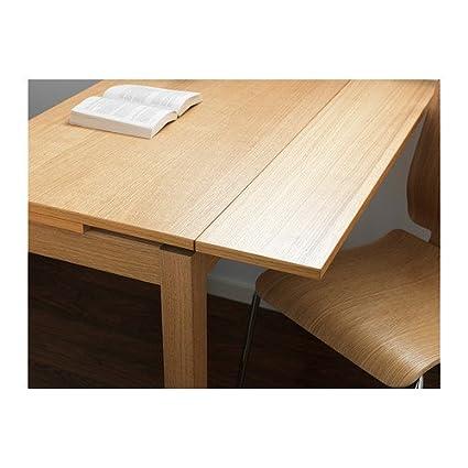 Ikea bjursta extendable table oak veneer x cm amazoncouk for Table extensible bjursta