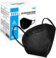 FFP2 Mask, Disposable KN95 Respirator Mask, 5-Layer Face Masks Filter Efficiency≥94% Filters Airborne Particles, CE...