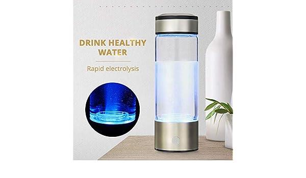 FeiKe Generador de Botella de Agua Saludable antiedad con hidrógeno Rico en Agua, Recargable por USB, para Hacer Agua alcalina con hidrógeno Rico en Solitario, Federación de Rusia: Amazon.es
