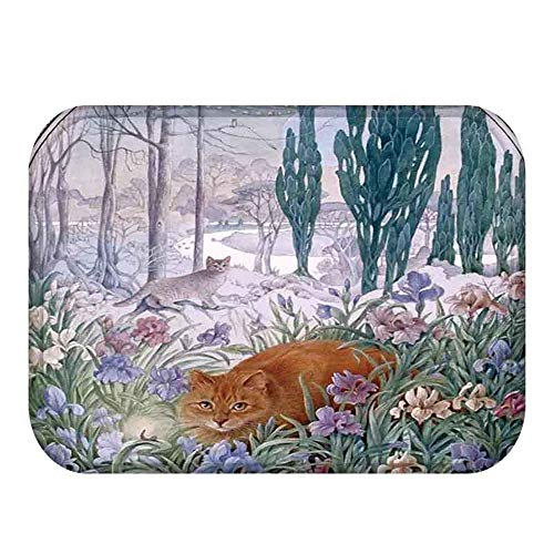 (Lovely Cats Pattern Anti-Slip Suede Carpet Door mat Doormat Outdoor Kitchen Living Room Floor Mat Rug 4073cm)