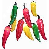 Kurt Adler 10-Light 4-Inch Multi Chili Pepper Light Set
