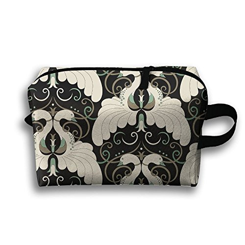City Birds Eye View Cosmetic Bags Makeup Organizer Bag Pouch Zipper Purse Handbag Clutch Bag]()