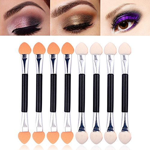 10pcs/set Eyeliner Eye Shadow Sponge Brushes Lip Brush Disposable Double End Make-Up Applicator Beauty Make Up Tool oobest