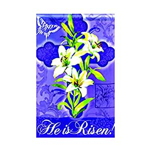 Ltd. Easter Lily Standard Flagdecorative flags initial flags party flags 28 x 40 Inch Double Sided banner home flags Print flags